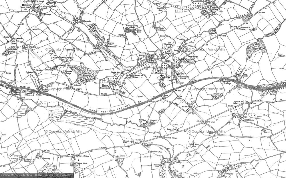 Old Map of Historic Map covering Allerton in 1886