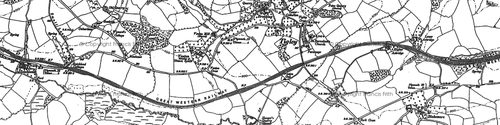 Old map of Allerton in 1886