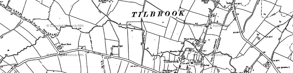 Old map of Tilbrook Grange in 1900