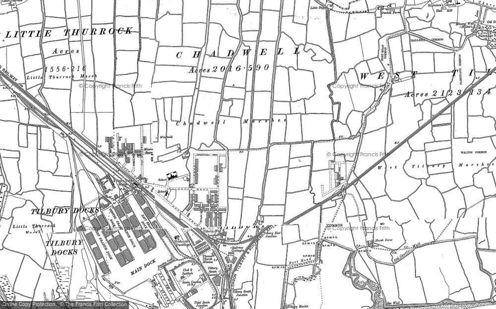 Map of Tilbury, 1895