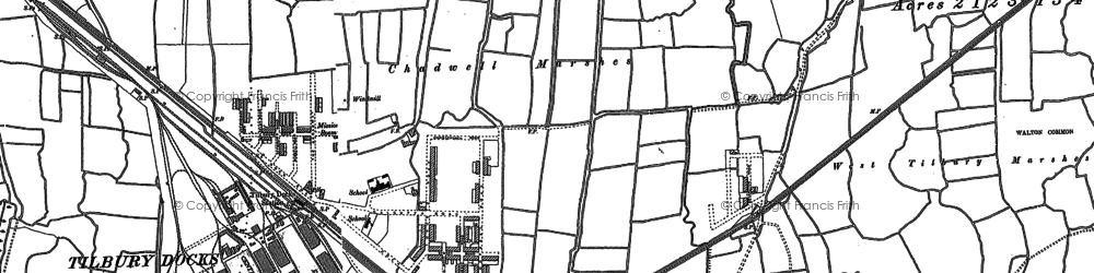 Old map of Tilbury in 1895