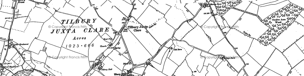 Old map of Tilbury Hall in 1896