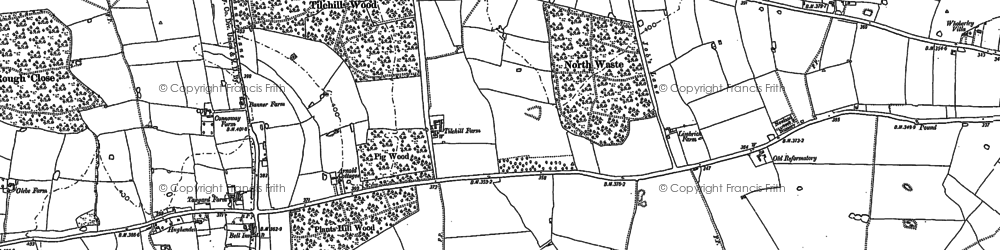 Old map of Whoberley in 1886
