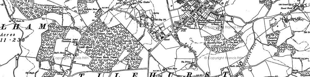 Old map of Tilehurst in 1898