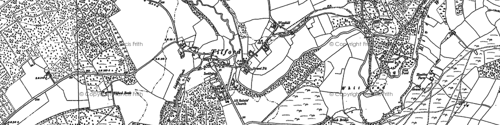 Old map of Tilhill Ho in 1913