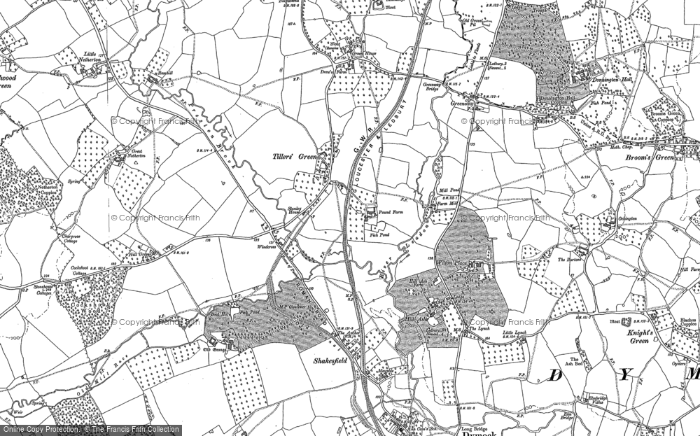 Old Map of Tillers' Green, 1901 in 1901