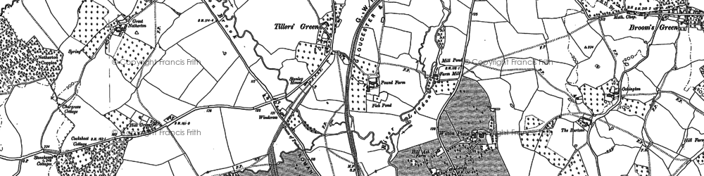 Old map of Tillers' Green in 1901