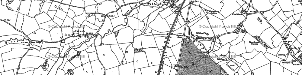 Old map of Tilley in 1880
