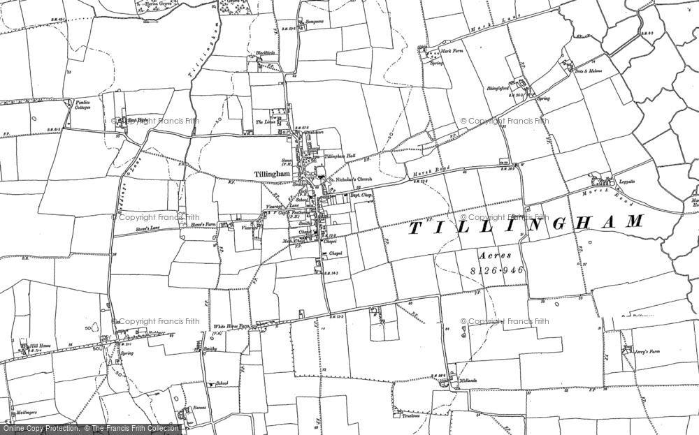 Old Map of Tillingham, 1895 in 1895