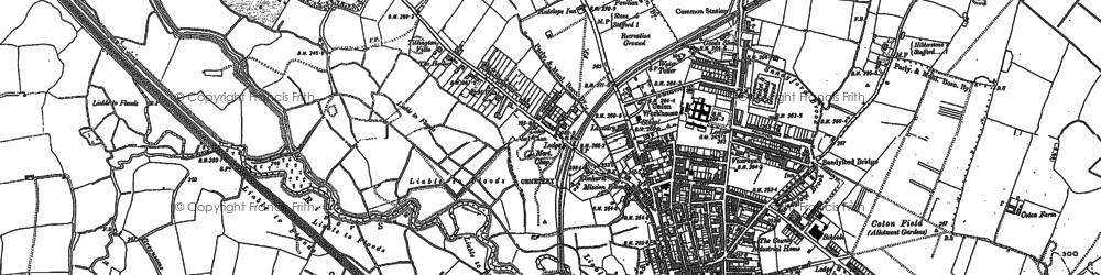 Old map of Tillington in 1880