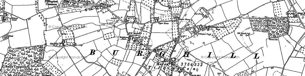 Old map of Badnage in 1886