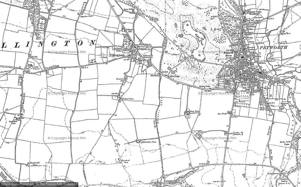 Old Map of Tillington, 1895 - 1896 in 1895