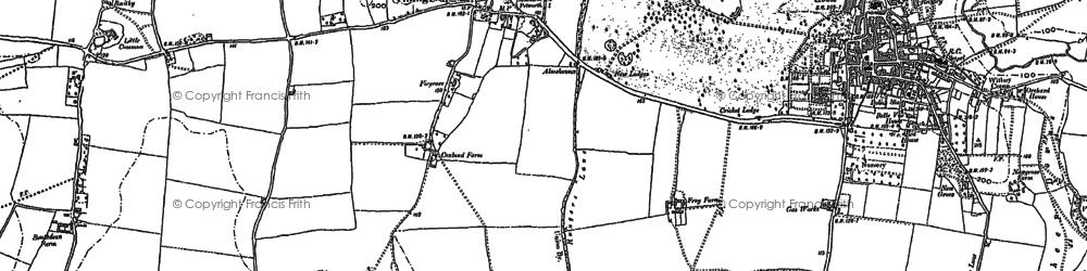 Old map of Tillington Ho in 1895