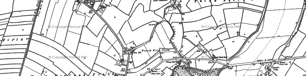 Old map of Tilney High End in 1886
