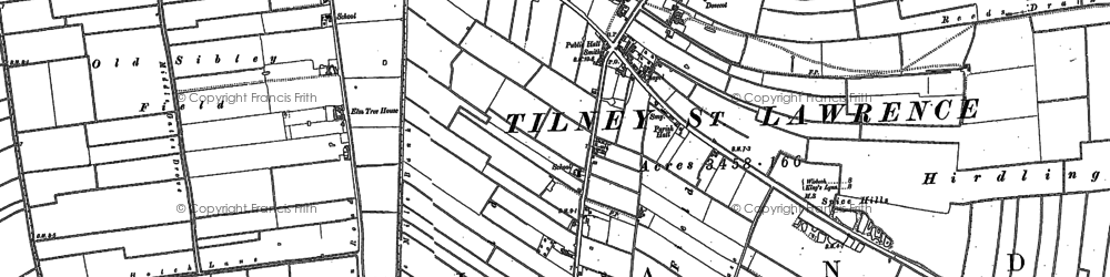 Old map of Aylmer Hall in 1886