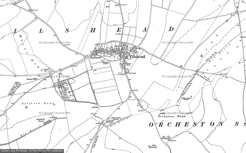 Map of Tilshead, 1899