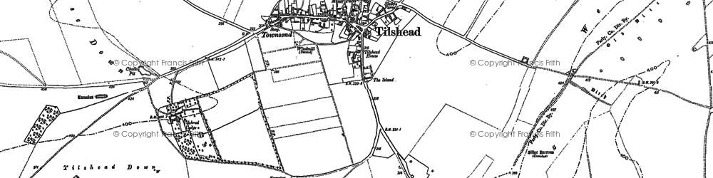 Old map of White Barrow (Long Barrow) in 1899