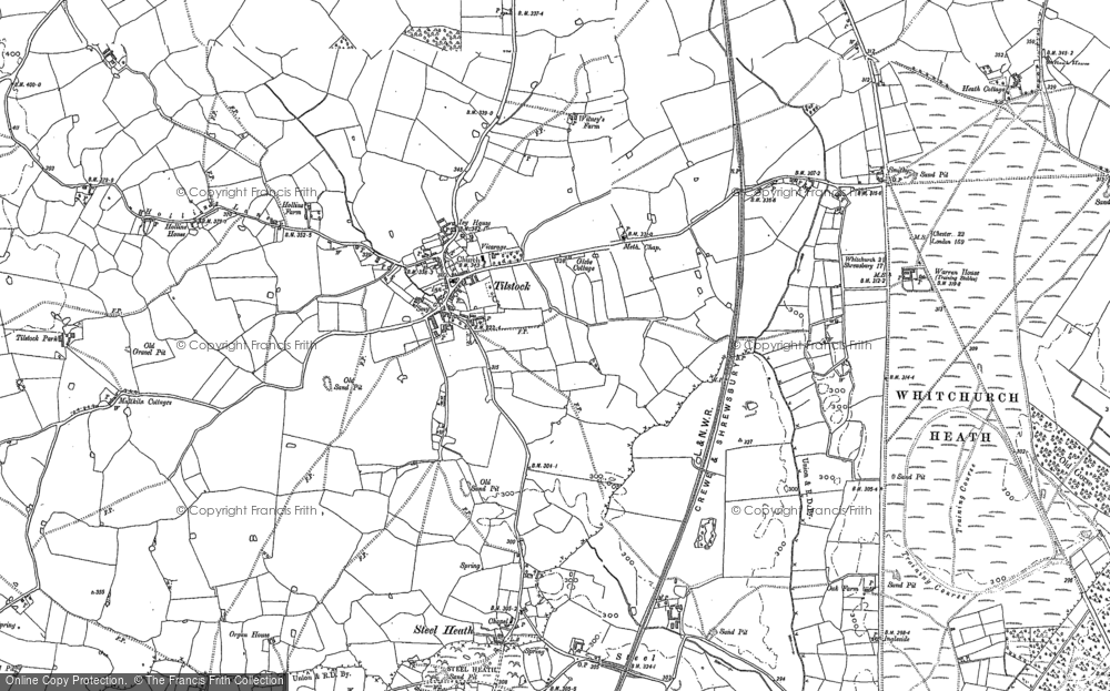 Old Map of Tilstock, 1879 - 1899 in 1879
