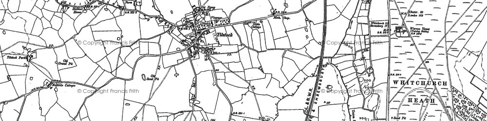 Old map of Tilstock in 1879