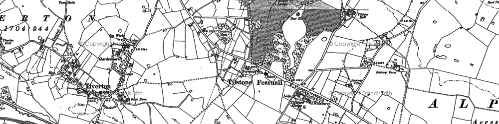 Old map of Wettenhall Brook in 1897