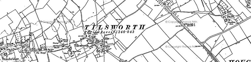 Old map of Tilsworth in 1881