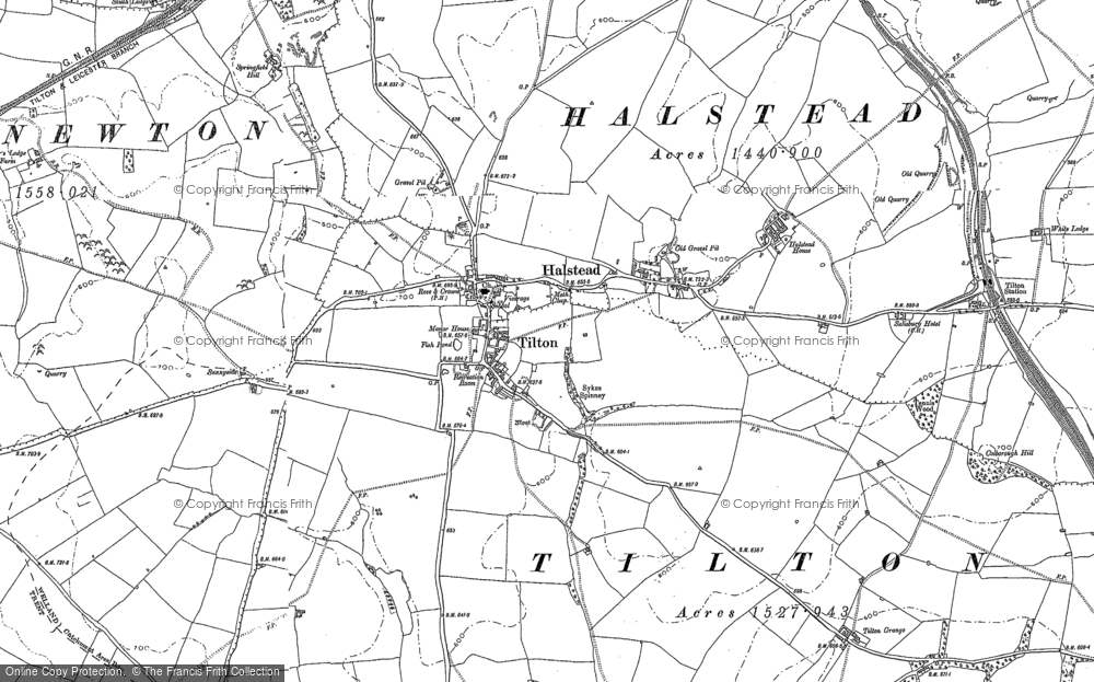 Old Map of Tilton on the Hill, 1884 - 1902 in 1884