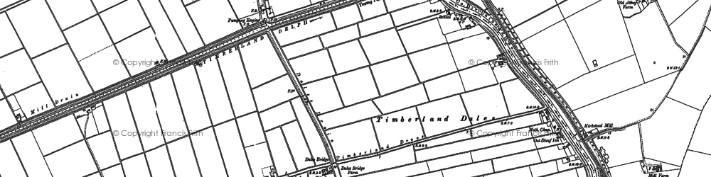 Old map of Timberland Dales in 1887