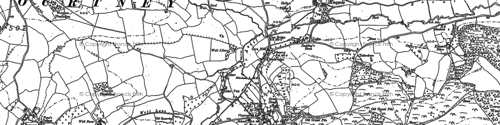 Old map of Allercott in 1887