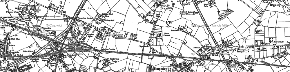 Old map of Timperley in 1897