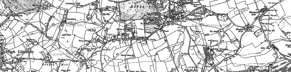 Old map of Withy Mills in 1883