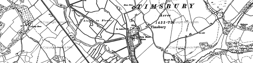 Old map of Timsbury Manor in 1895