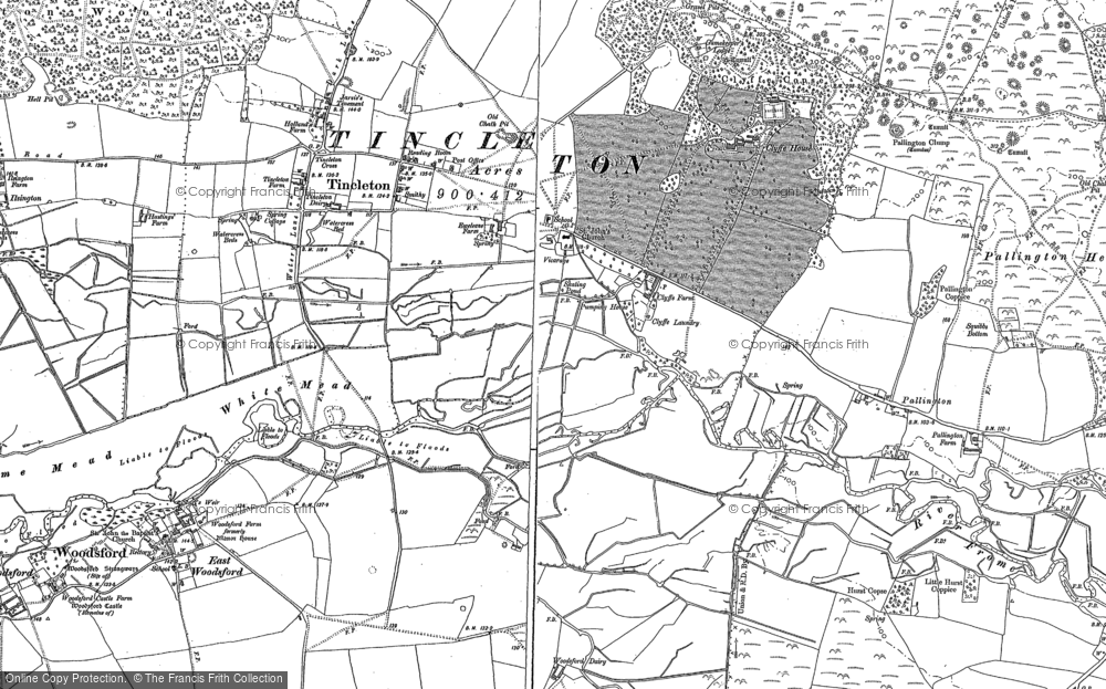Old Map of Tincleton, 1886 - 1887 in 1886