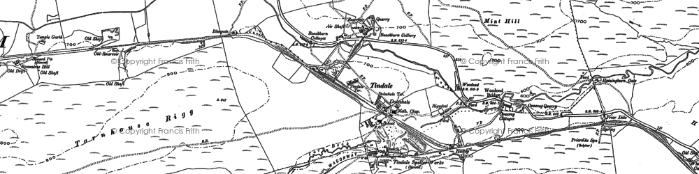 Old map of Back Dike in 1899