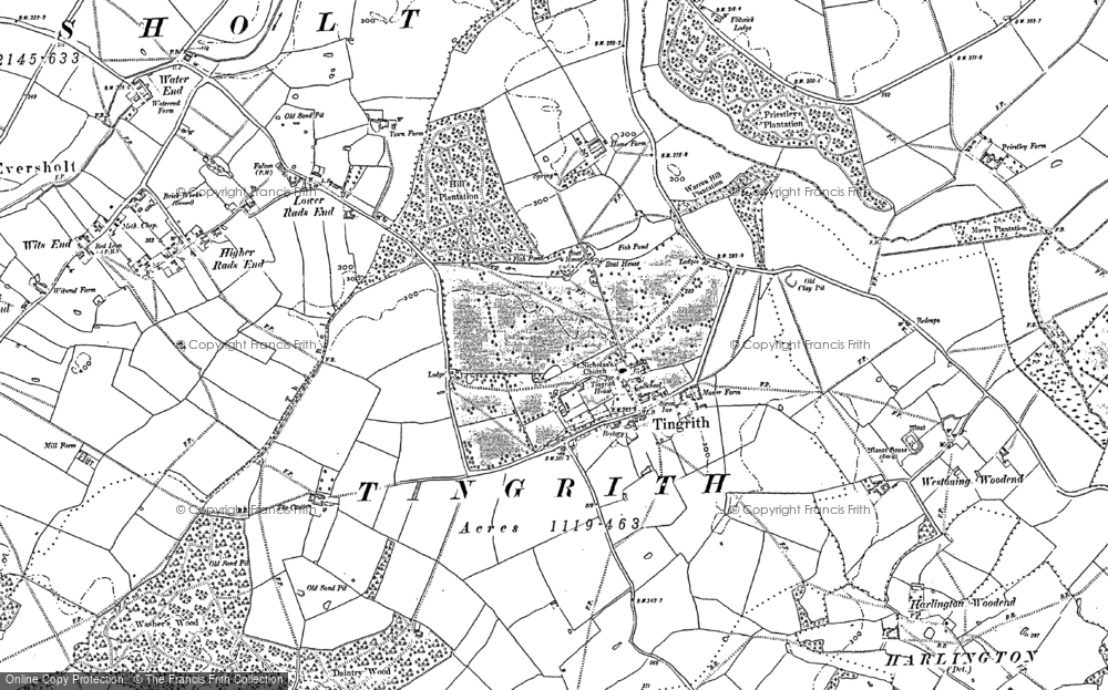 Old Map of Tingrith, 1881 - 1882 in 1881