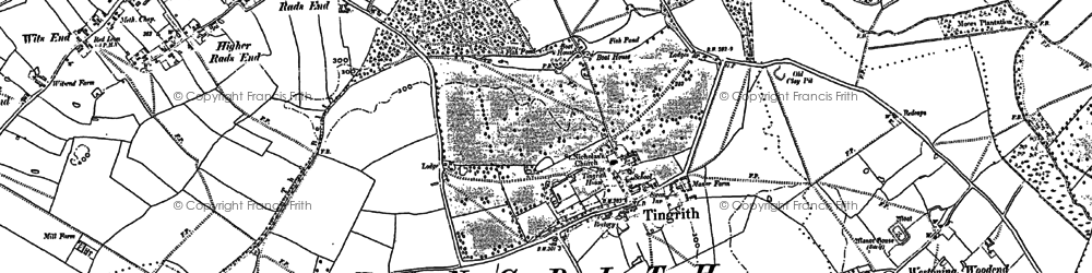 Old map of Tingrith in 1881