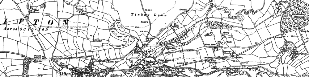 Old map of Tinhay in 1883