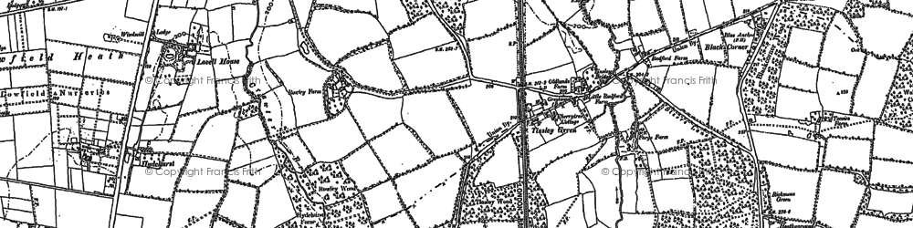 Old map of Tinsley Green in 1910