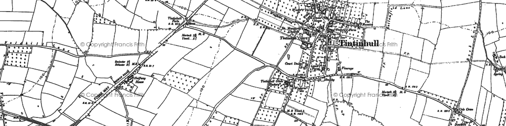 Old map of Tintinhull in 1886