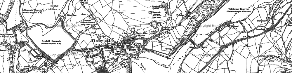 Old map of Tintwistle in 1907