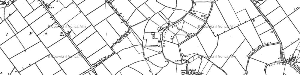 Old map of Tipps End in 1900