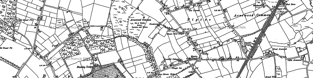 Old map of Wootton in 1896