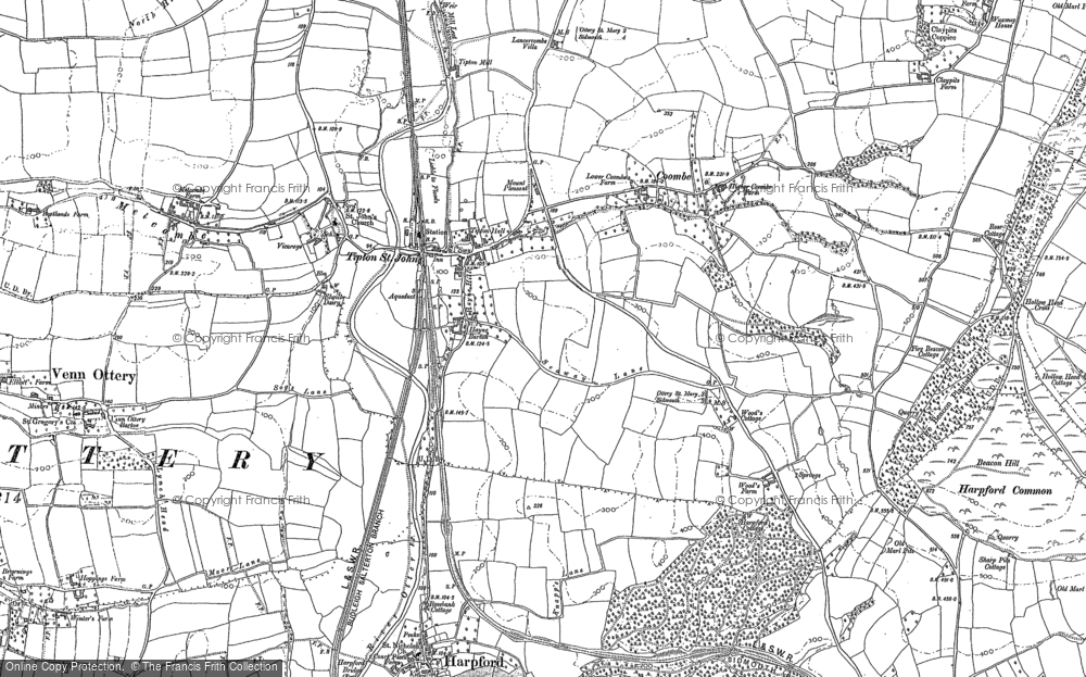 Old Maps of Tipton St John Francis Frith