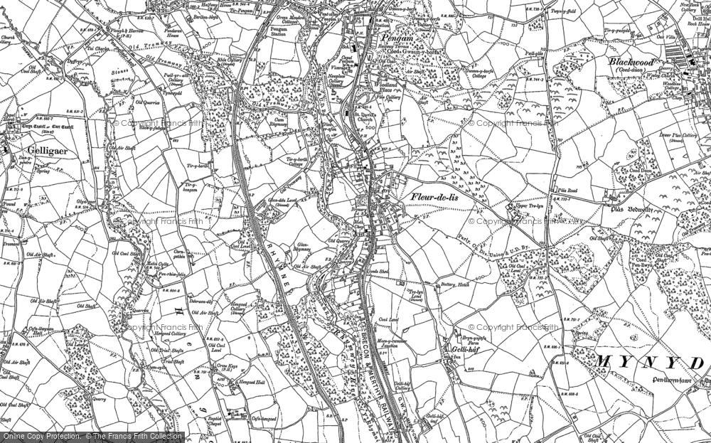 Old Map of Tir-y-berth, 1899 - 1916 in 1899