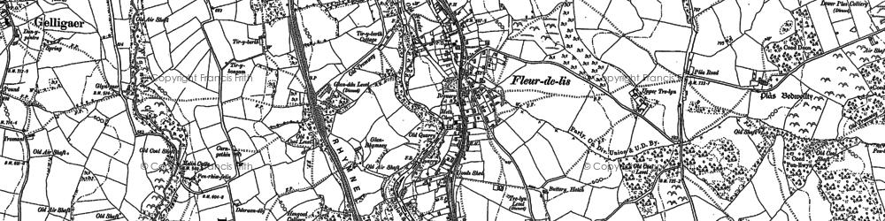 Old map of Tir-y-berth in 1899