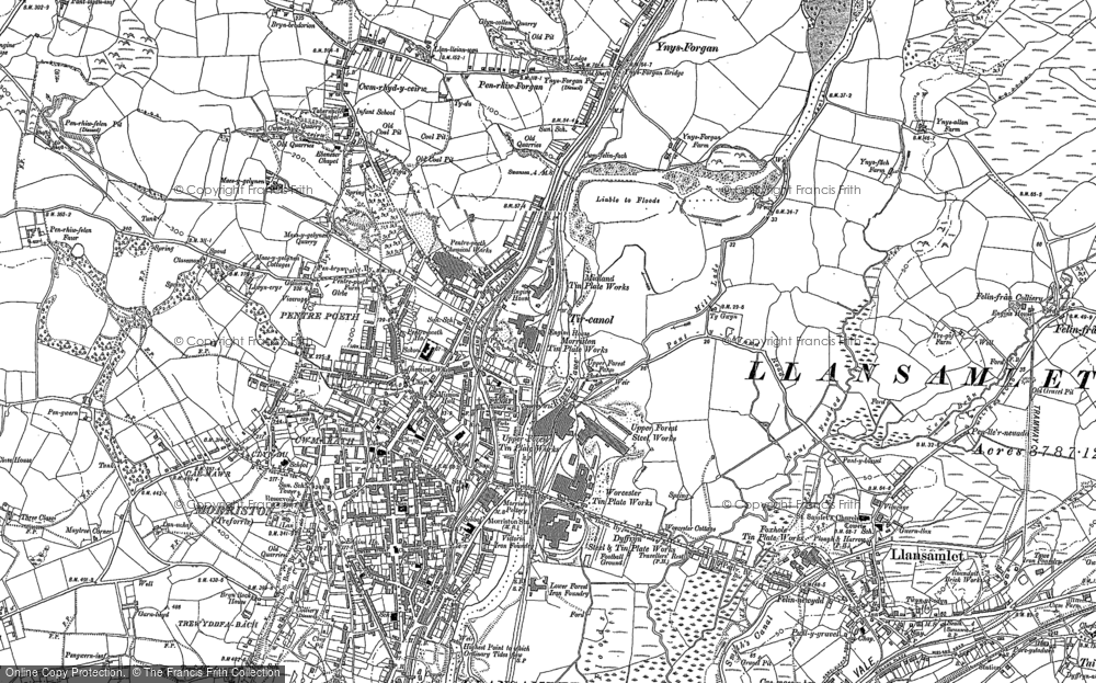 Old Map of Tircanol, 1897 in 1897