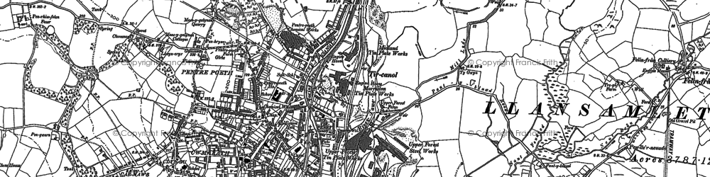 Old map of Tircanol in 1897