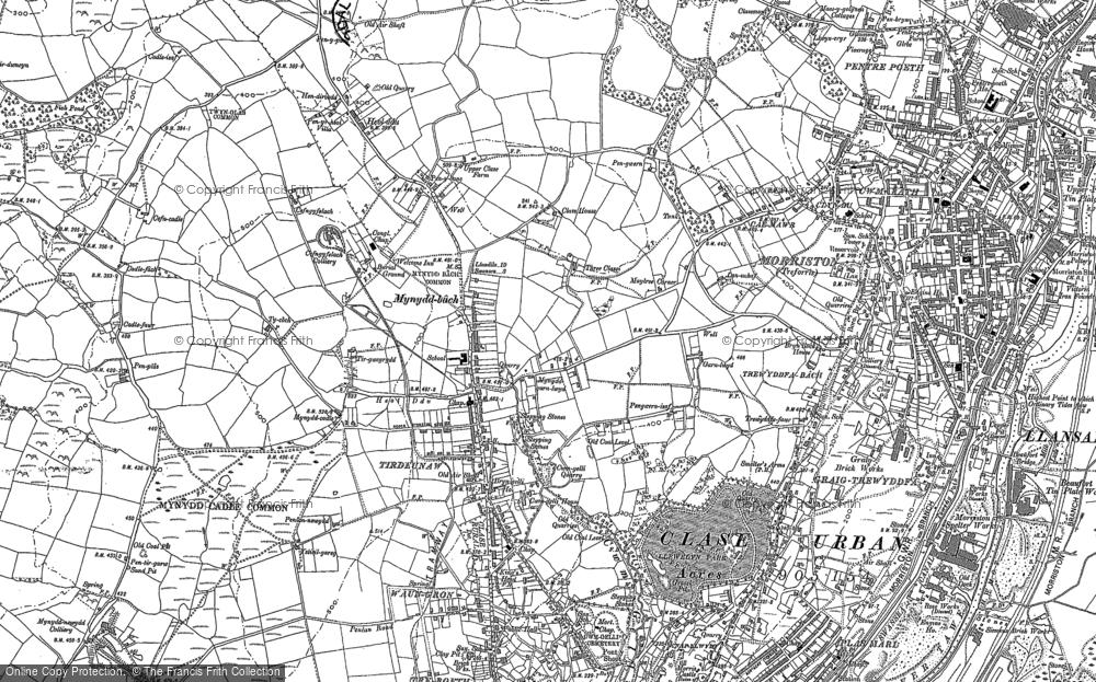 Old Map of Tirdeunaw, 1885 - 1886 in 1885