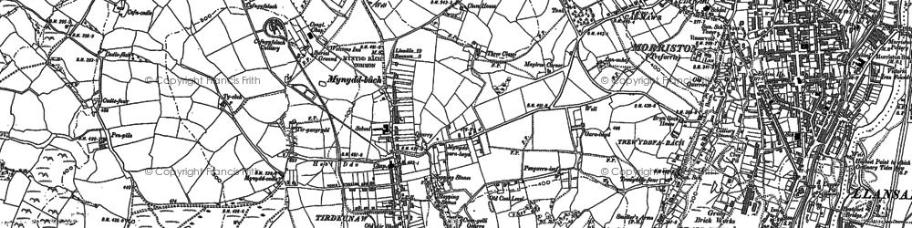 Old map of Tirdeunaw in 1885