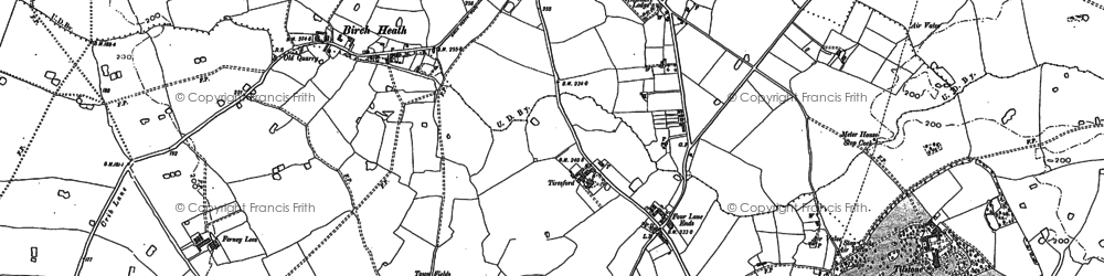 Old map of Tiresford in 1897