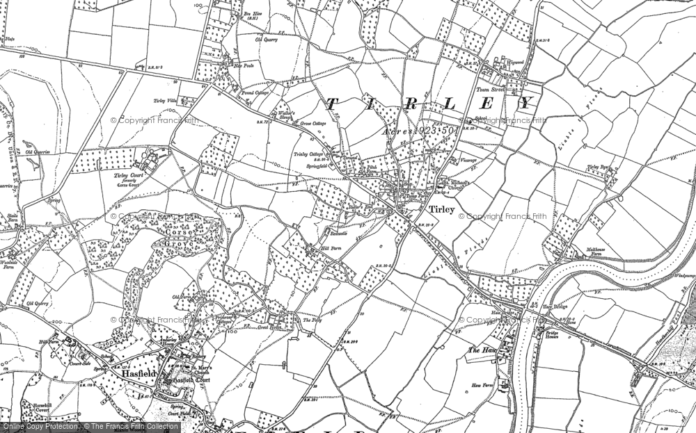 Old Map of Tirley, 1883 in 1883